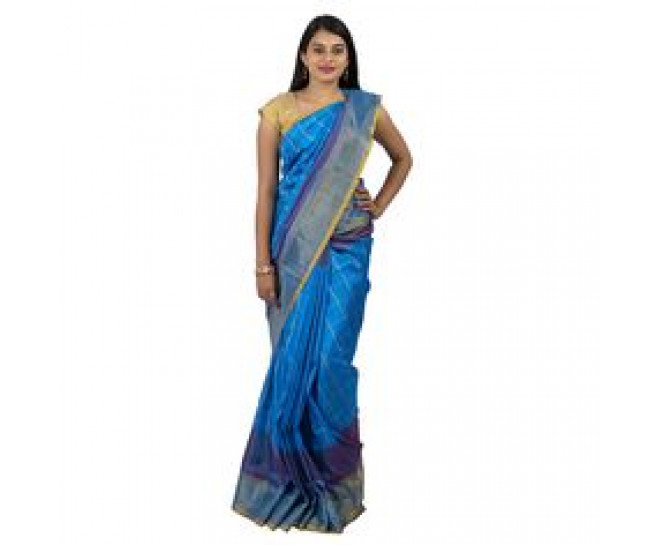 UPPADA PATTU SKY BLUE SAREE :ABHUP006