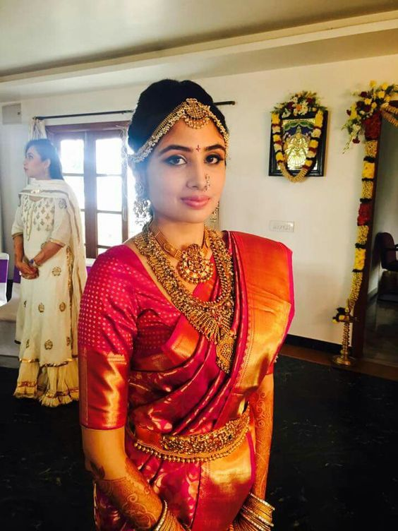 andhra bridal saree with blouse