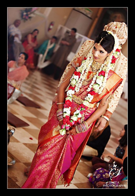 beautiful bridal saree with perfect blouse