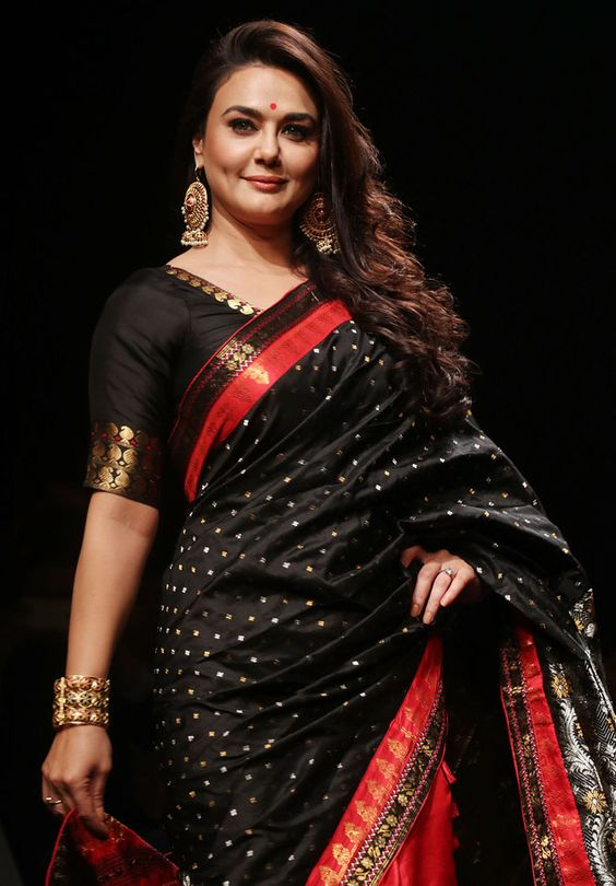 black wedding saree in johannesburg