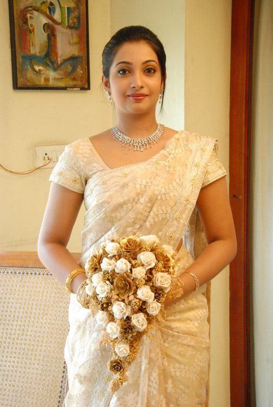 elegant wedding sari with self blouse