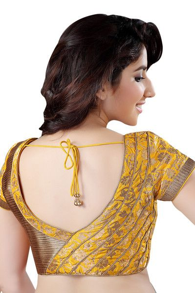 gold brocade blouse design