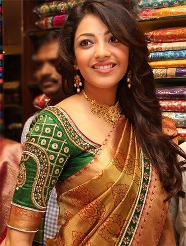 kajal wedding blouse design
