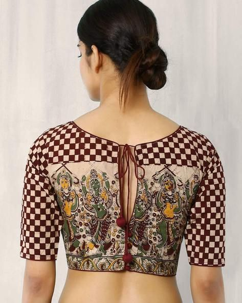 kalamkari design blouse