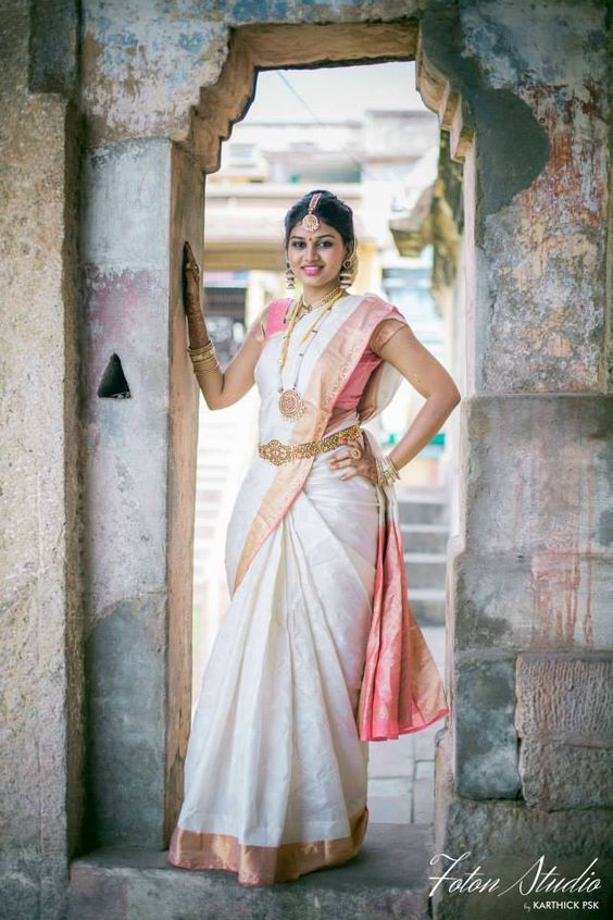 kerala bridal saree with nice blouse design