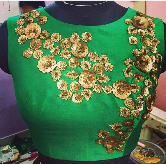 khatil work blouse design