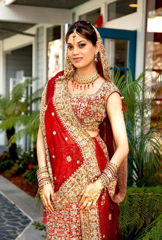 north indian wedding saree with elegant blouse
