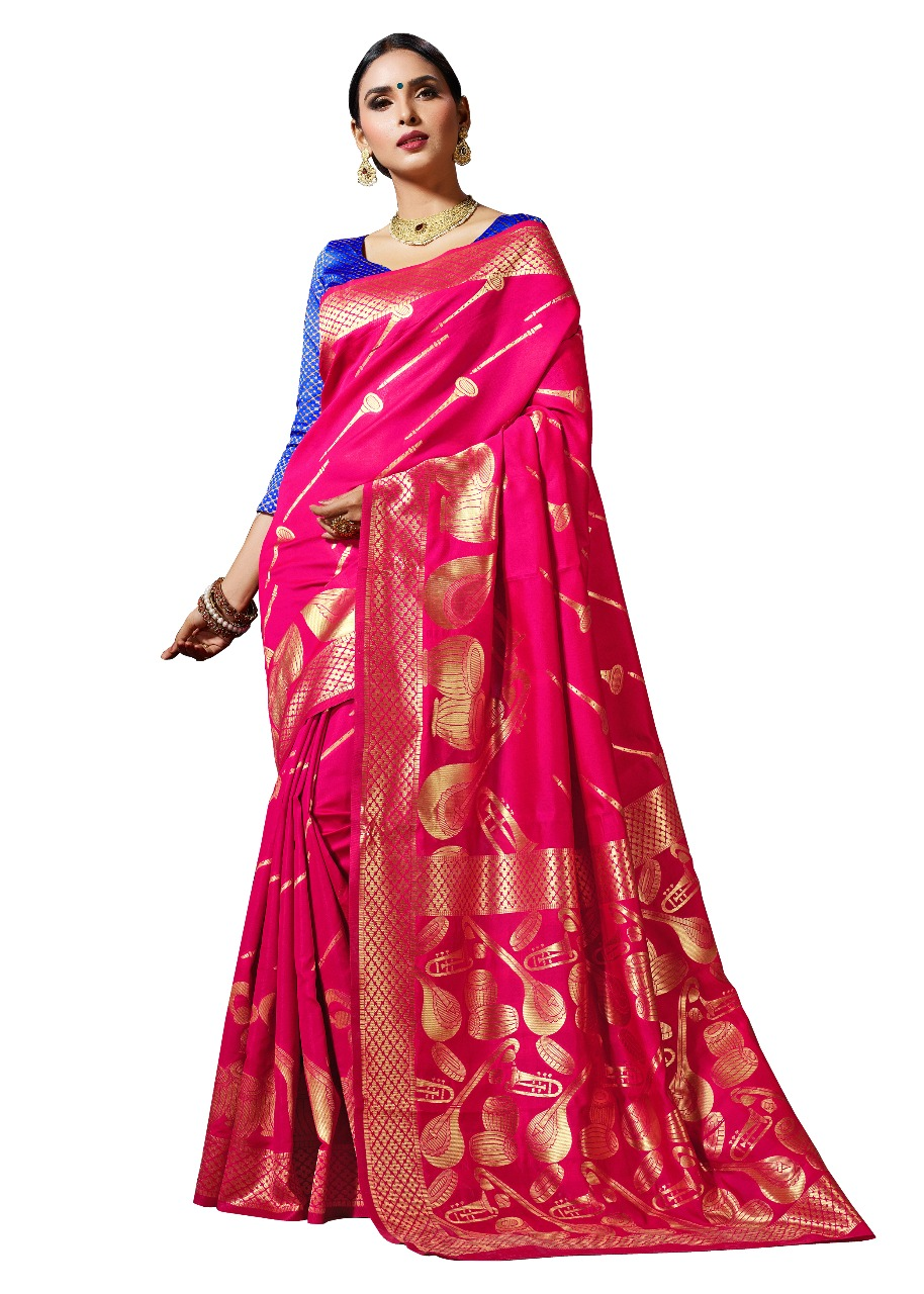 pink colour kanchipuram saree