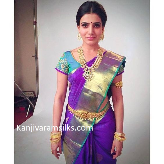 violette wedding saree by samantha