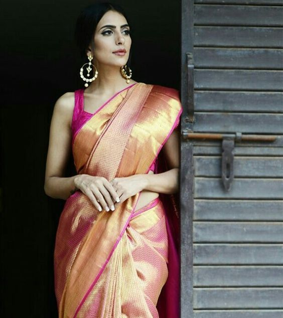 kanjivaram wedding silk saree