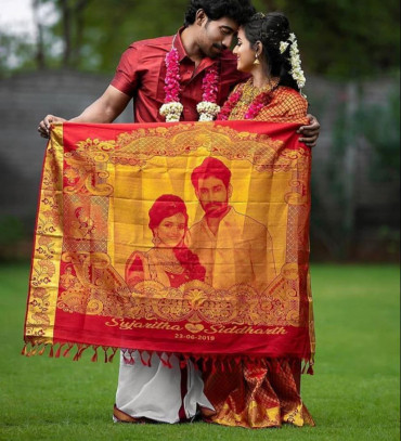001 Couple Photo Wedding Saree