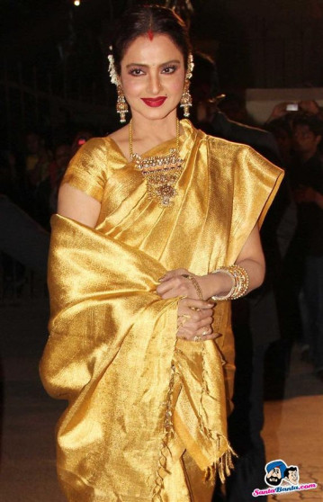 0094 Full gold bridal saree