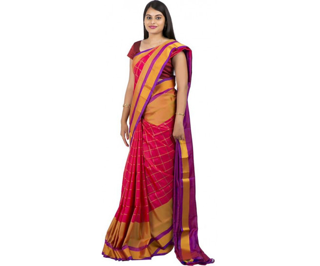 03AB37843 - red colour uppada saree