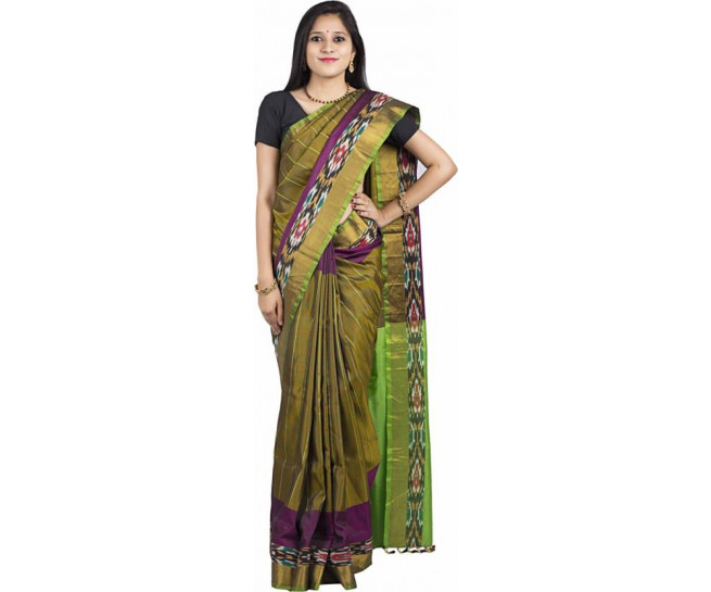 03AB37838 - Algae green uppada saree