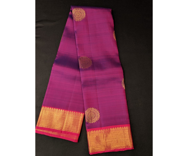 00KANCHI4439PONNU21- violet rose colour kanchipuram saree