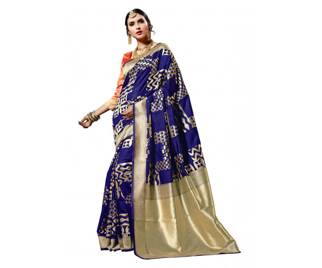 00KANCHI4000AKN122 - blue kanchipuram saree red blouse