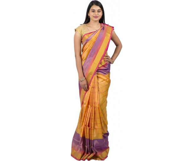 03AB37850 - Sandal colour uppada saree