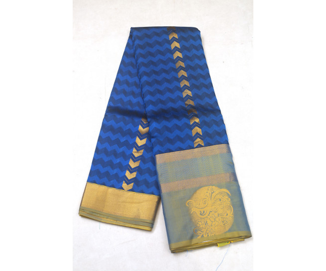 00PATTU5001PERU18 - peacock blue pattu saree @ kanjivaramsilks.com