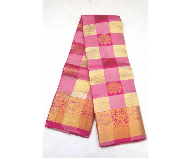 00PATTU5001PERU23 - multi colour checks pattu saree