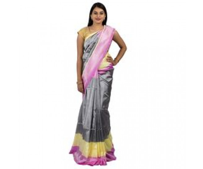 Uppada saree in grey colour  :ABHUP005