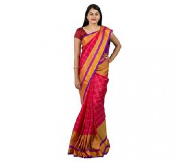 UPPADA PATTU TRADITIONAL SAREE DARK PINK : ABHUP010
