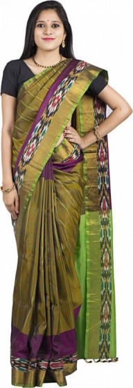003AB37838 - Algae green uppada saree