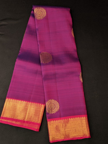 000KANCHI4439PONNU21- violet rose colour kanchipuram saree