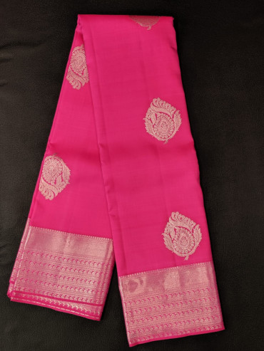 000KANCHI4439PONNU2 - rose  kanchipuram silk saree