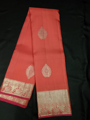000KANCHI4439PONNU41 - onion pink kanchipuram silk saree