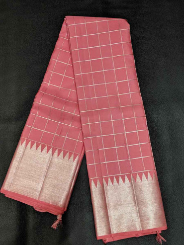 000SILK5013PERU31 - onion pink silk saree
