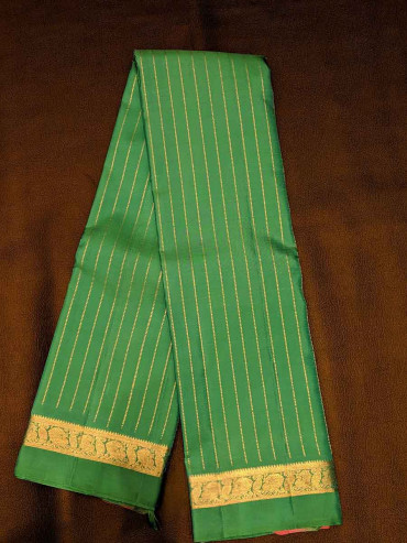 000SILK5014PERU32 - rexona green  silk saree