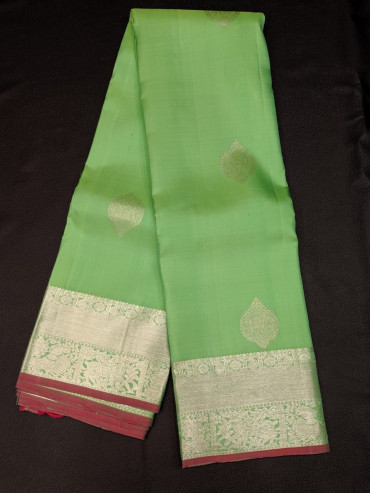 00KANCHI4439PONNU64 - apple green kanchipuram silk saree