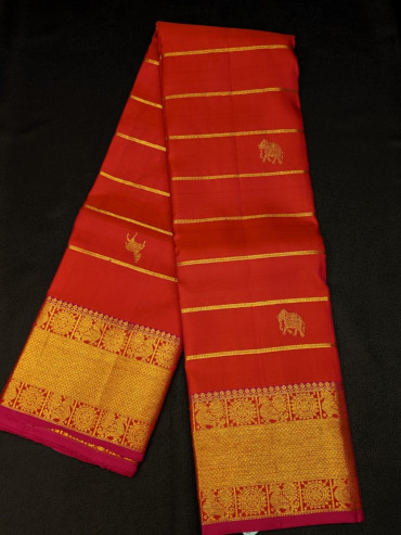 000KANCHI4439PONNU - tissue colour  kanchipuream silk saree