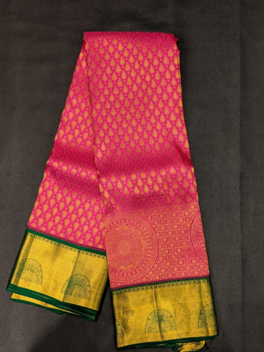 000BRID4006PERU72 - magenta rose wedding silk saree