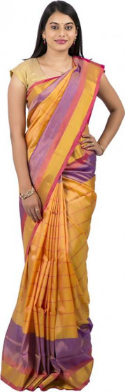 003AB37850 - Sandal colour uppada saree