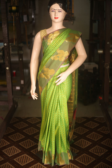 00KANCHI4435AKN13 - light green kanchipuram silk saree