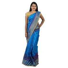0UPPADA PATTU SKY BLUE SAREE :ABHUP006
