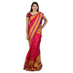 0UPPADA PATTU TRADITIONAL SAREE DARK PINK : ABHUP010