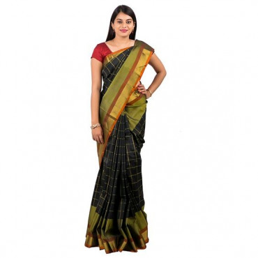0Uppada pattu saree in black colour ABHUP012
