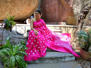 003AB37848 - Rose colour uppada saree