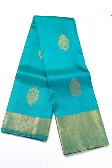 000PATTU5051PONNU - olympic blue  pattu saree