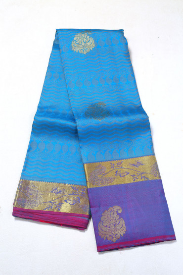 000PATTU5085PONNU - carolina blue pattu saree