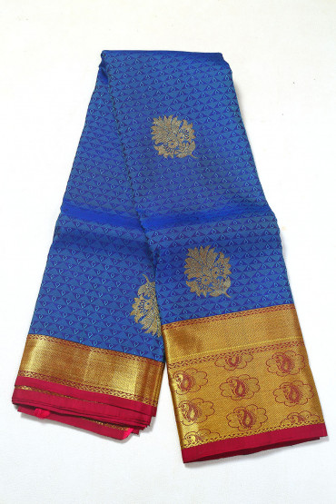 000PATTU5086PONNU - navy blue pattu saree