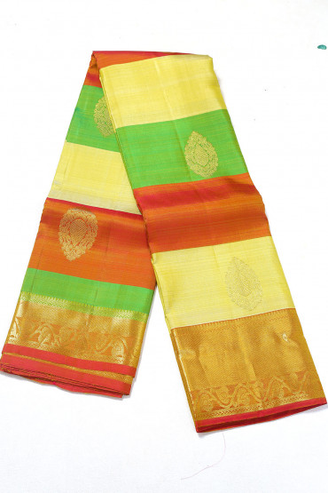 000PATTU5088PONNU - tri colour pattu saree