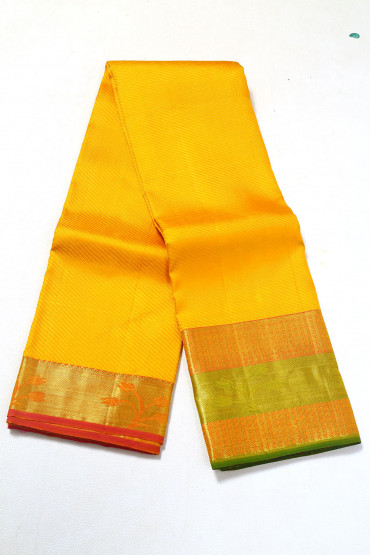 000PATTU5089PONNU - mango colour pattu saree