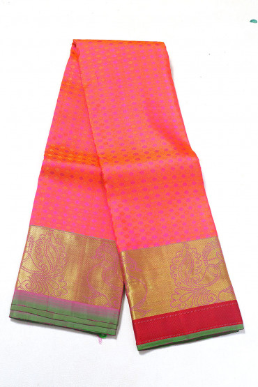 000PATTU5091PONNU - french rose pattu saree