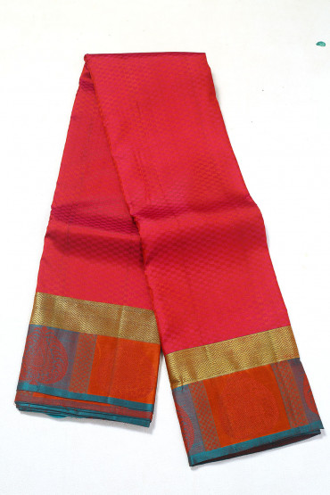 000PATTU5093PONNU - carmine colour pattu saree