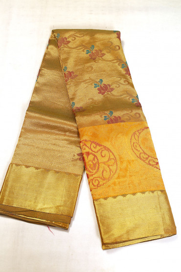 000BRID5030AKM - russet colour wedding silk saree