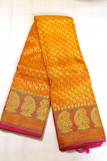 000BRID5037AKM - mustard gold wedding saree