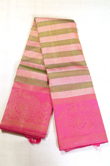 000BRID5130AKM - multi colour bridal silk saree